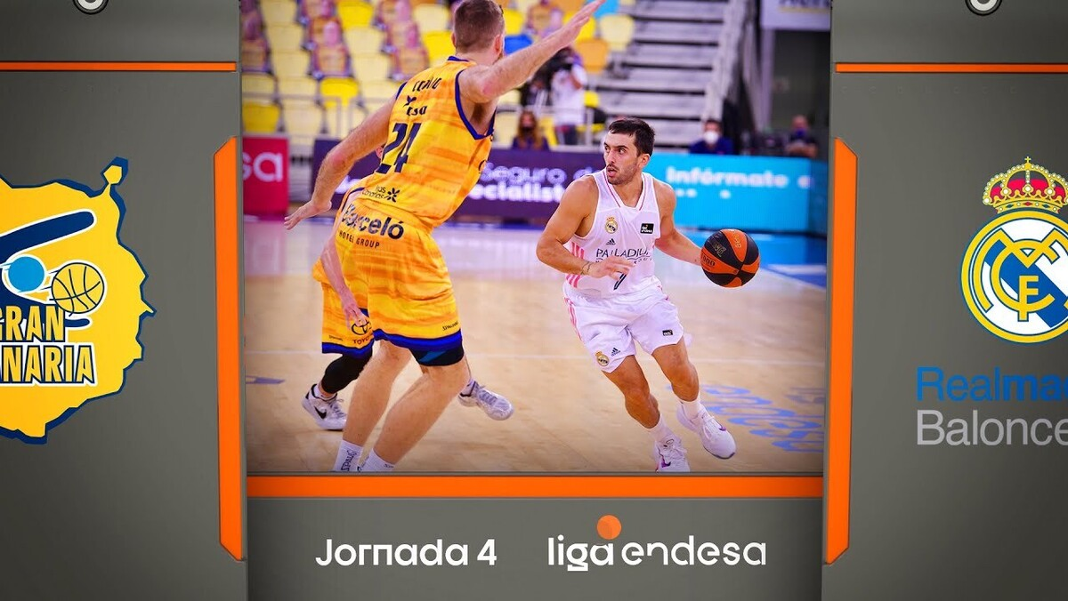 Resumen Herbalife Gran Canaria 65 - Real Madrid 90 (J4)